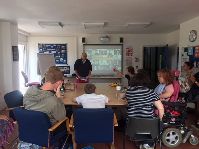 Jon (Managing Director) Delivering a session called: How to stay safe online for the students