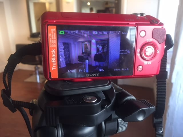 Image of our camera taking photos of the studio at Chobham Hair