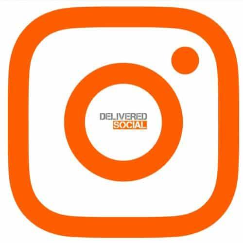 Instagram Logo and Delivered Social Logo
