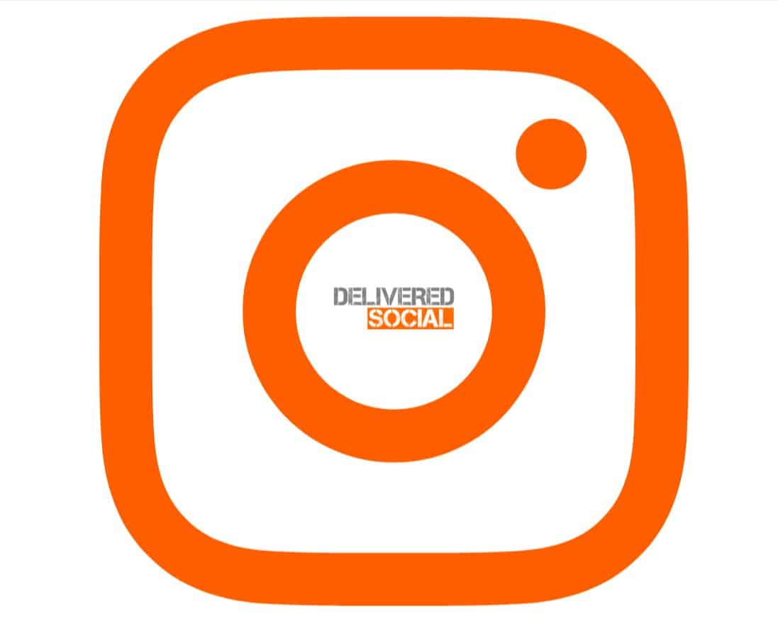 Instagram Logo and Delivered Social Logo