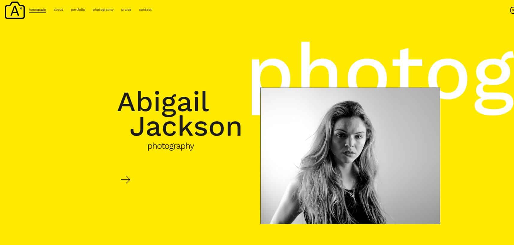 Abigail Jackson Photography Website