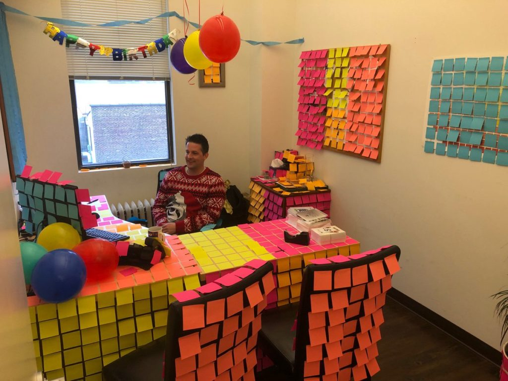 Ways to Celebrate Company Birthdays Post It Attack