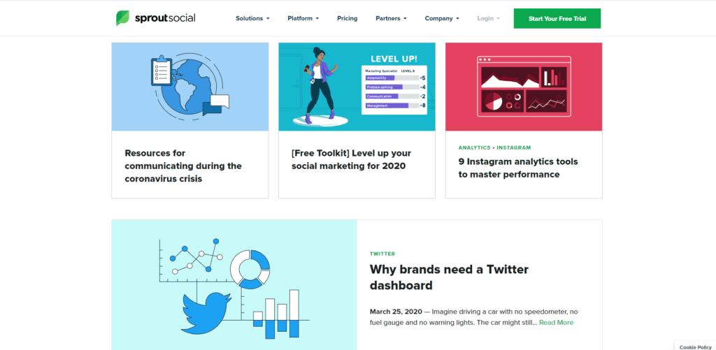 social media marketing website: sprout social