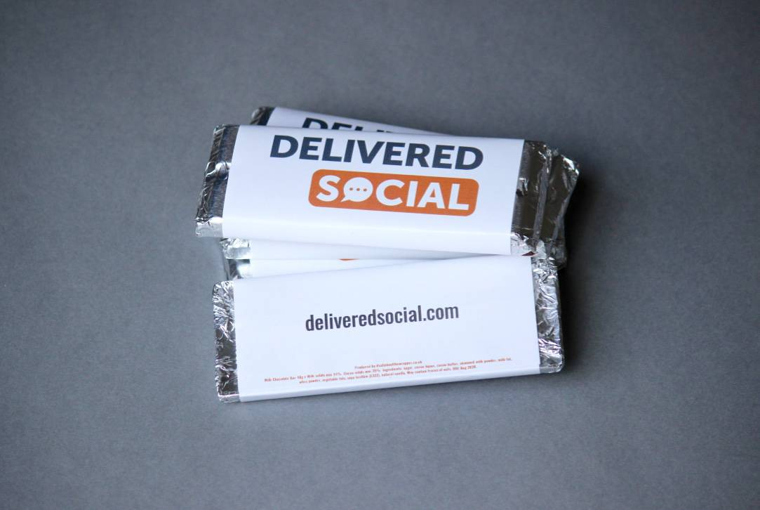 Delivered Social corporate branded Chocolates