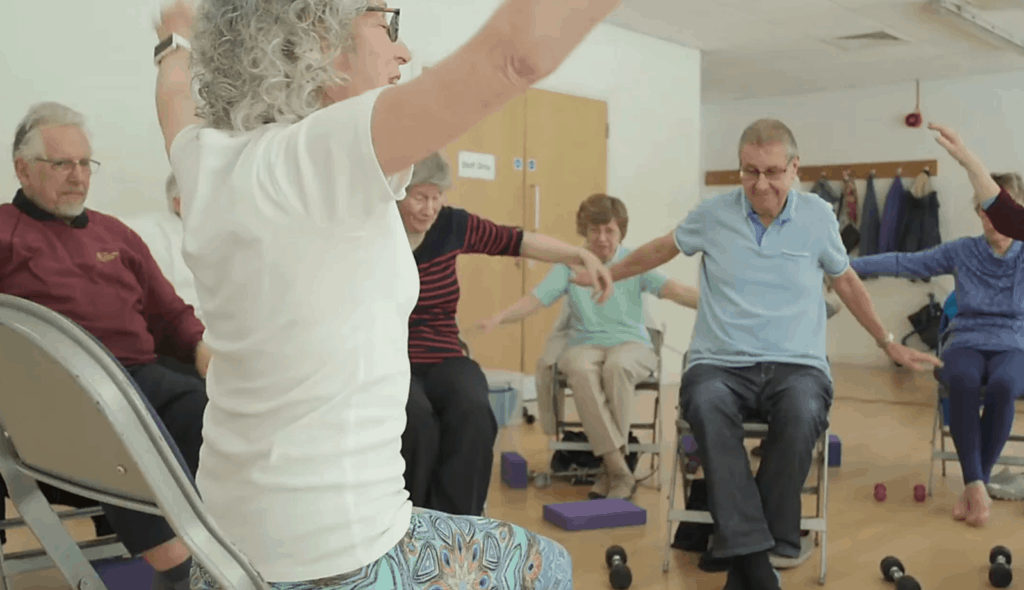 accessible chair yoga