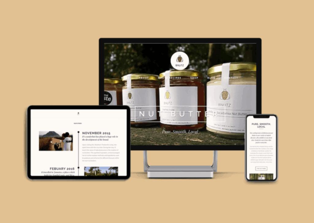 Advertising Agency Guildford: Bnutz Website