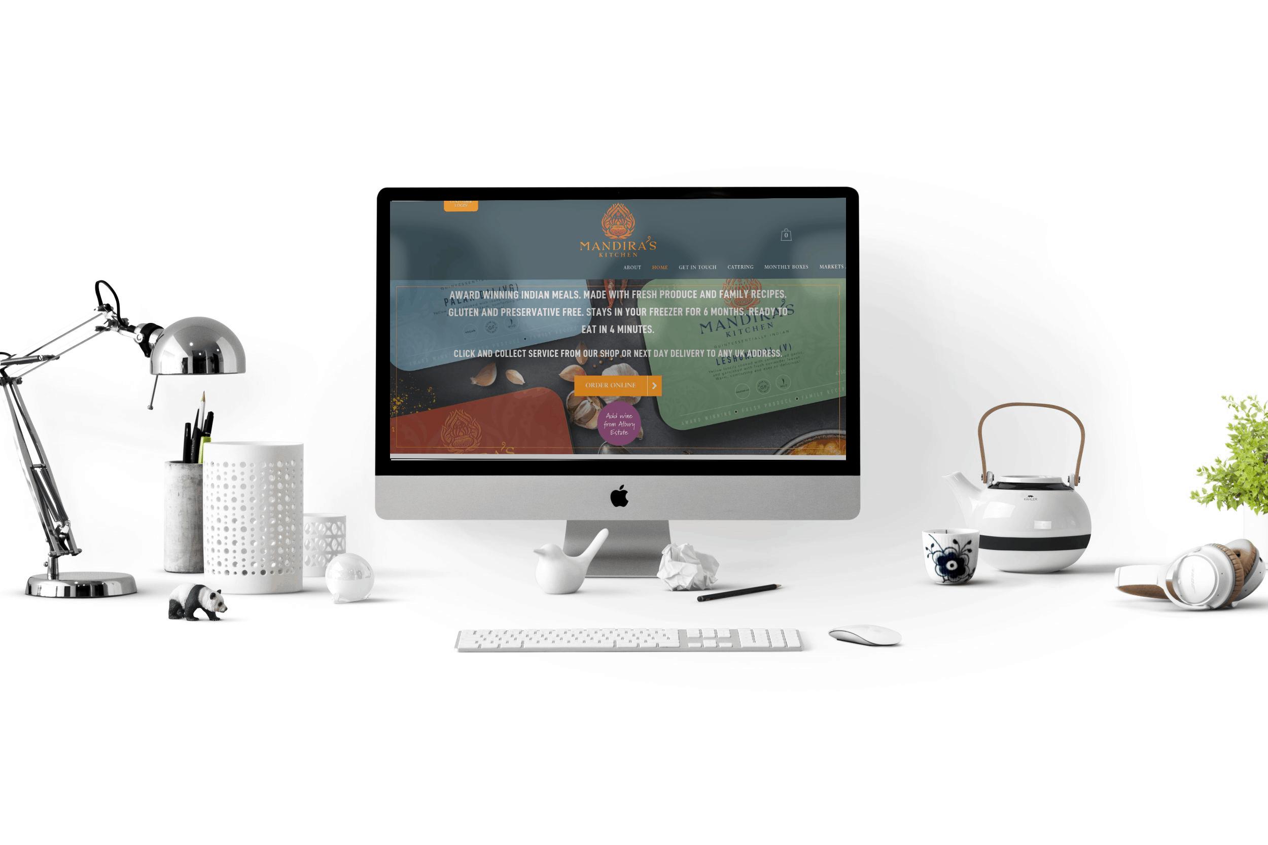 Mandira's Kitchen Website Design