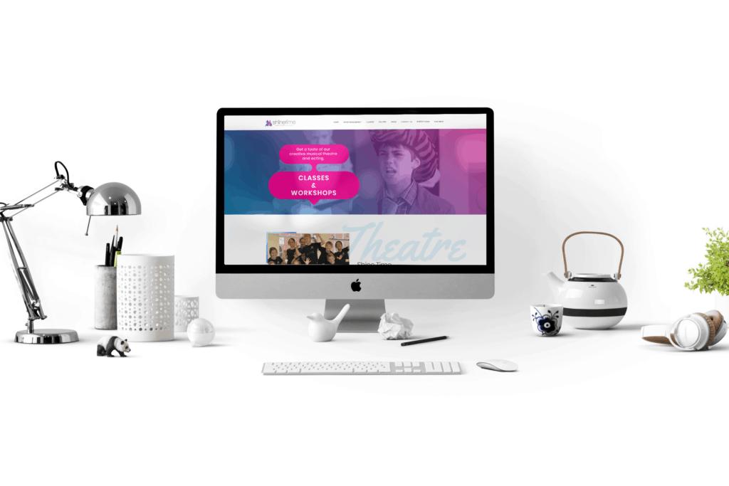 Shinetime Workshops web design