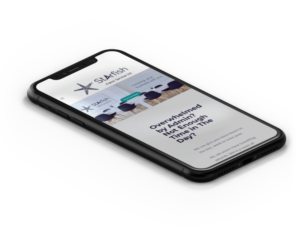 Starfish Admin Services mobile view