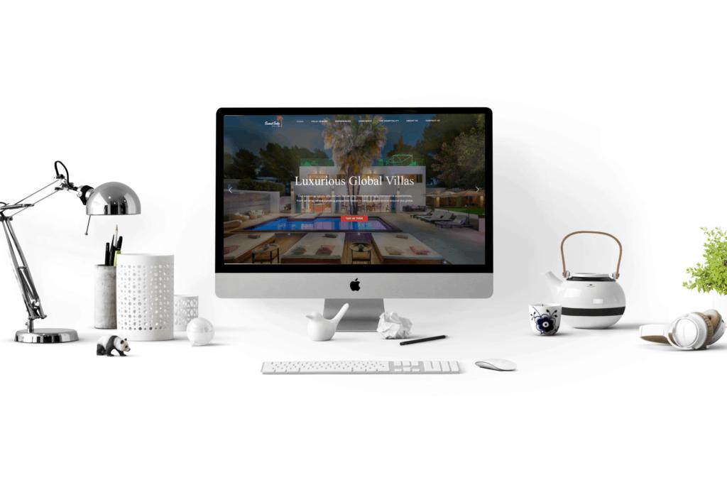 The Sunset Suite website design
