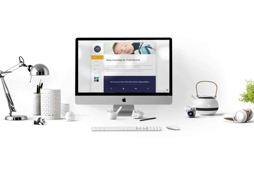 Tots Asleep website design