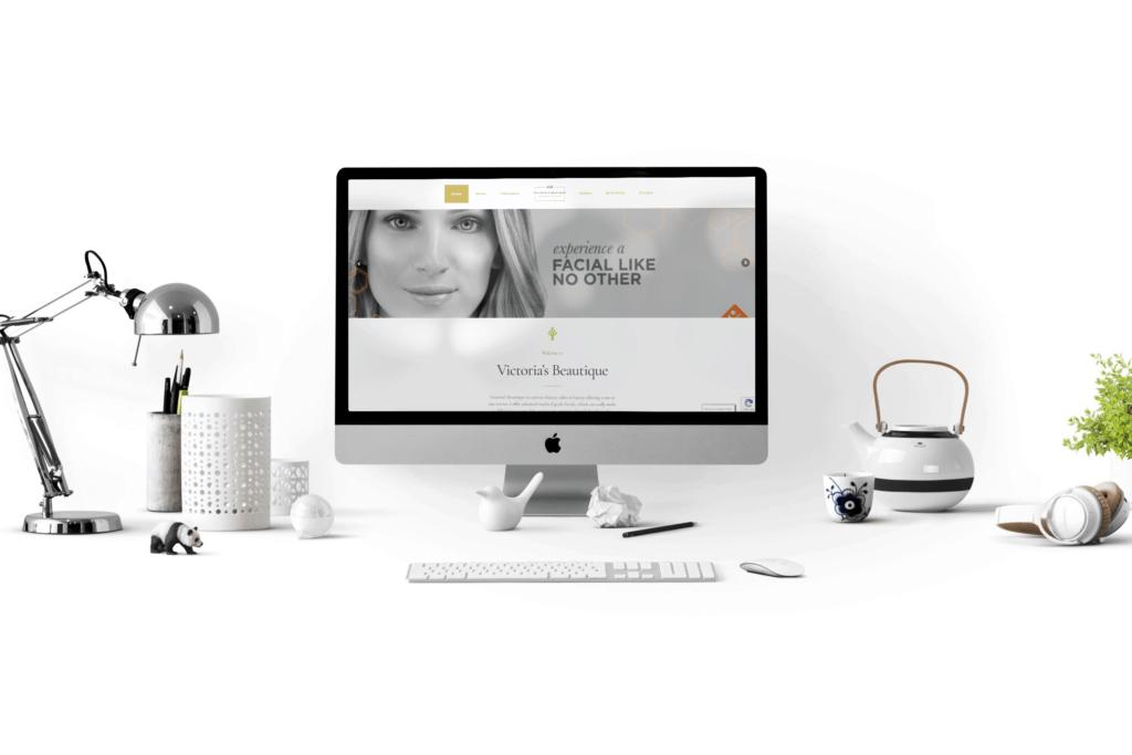 Victoria's Beautique website design